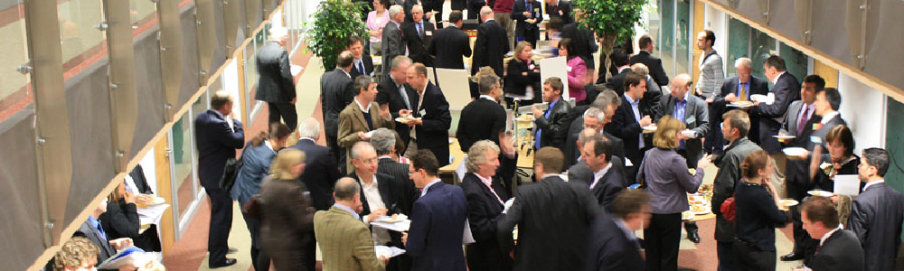 Networking event crowd of people