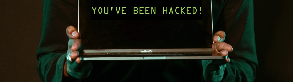 Youve been hacked on laptop screen